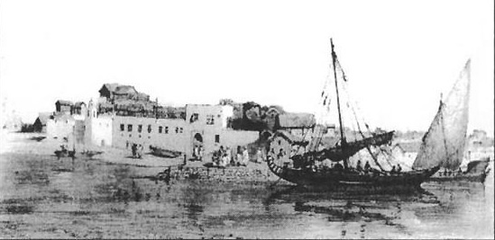 Abyssinian port of Massowah in the early 19th century