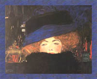 Lady with Hat and Feather Boa, by Gustav Klimt